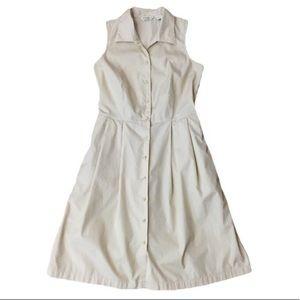 Eddie Bauer Khaki Dress Safari Button Up Size 8